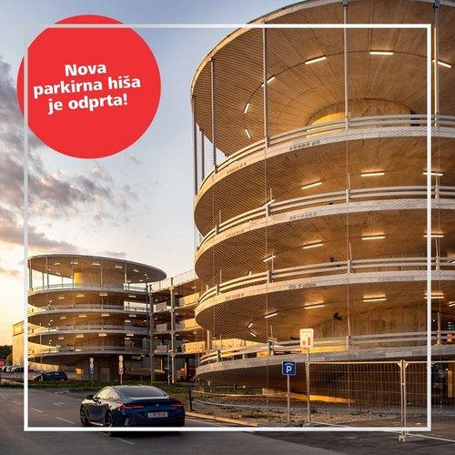 Nova parkirna hiša je odprta! 🥳 🚗  Nič več iskanja parkirnih mest. 😉 Parkiraj v parkirni hiši pred Supernovo Ljubljana...